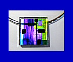 Purple and Lime Square Acrylic Choker